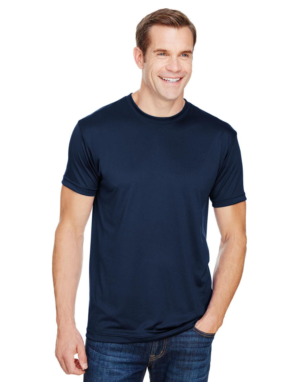 Bayside Unisex 4.5 oz., Polyester Performance T-Shirt NAVY