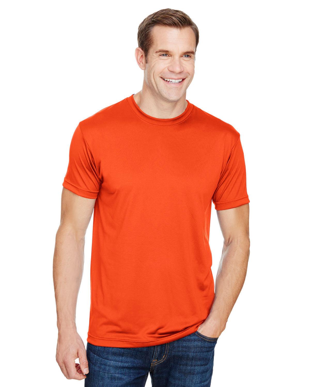 Bayside Unisex 4.5 oz., Polyester Performance T-Shirt BRIGHT ORANGE