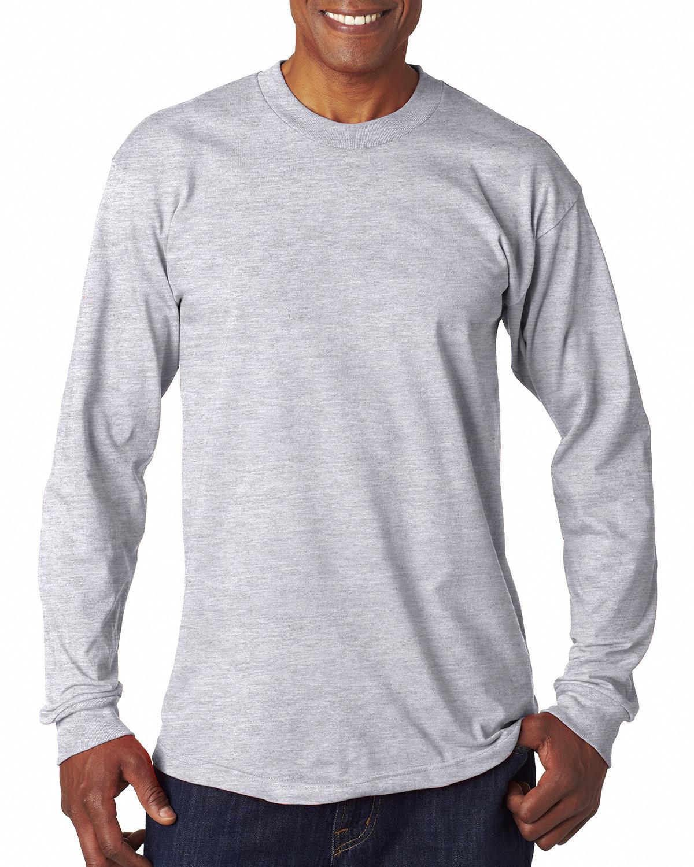 Bayside Adult 6.1 oz., 100% Cotton Long Sleeve T-Shirt ASH
