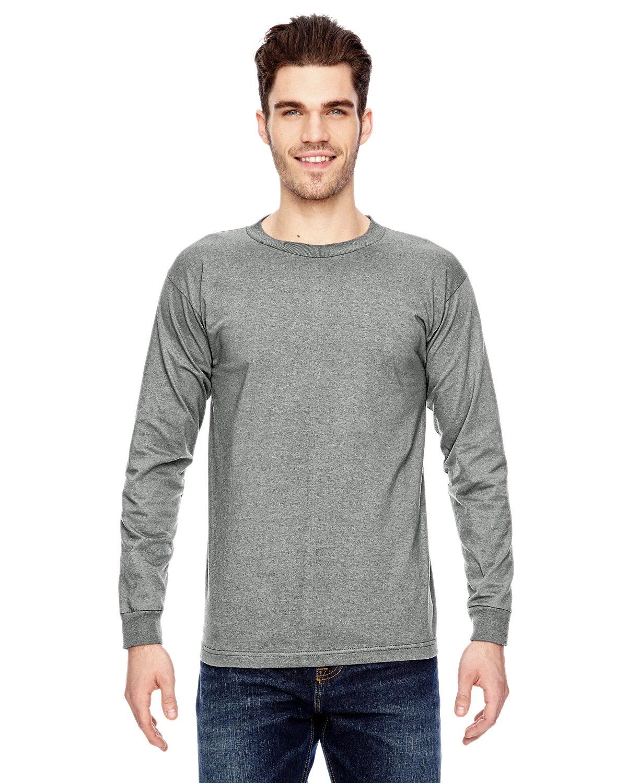 Bayside Adult 6.1 oz., 100% Cotton Long Sleeve T-Shirt DARK ASH