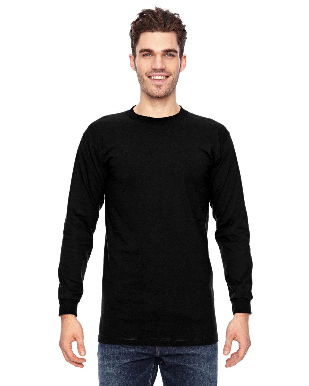 Bayside Adult 6.1 oz., 100% Cotton Long Sleeve T-Shirt BLACK