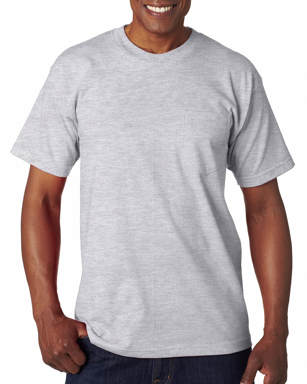 Bayside Adult 6.1 oz., 100% Cotton Pocket T-Shirt ASH