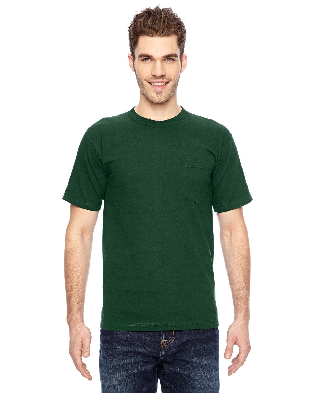 Bayside Adult 6.1 oz., 100% Cotton Pocket T-Shirt FOREST GREEN