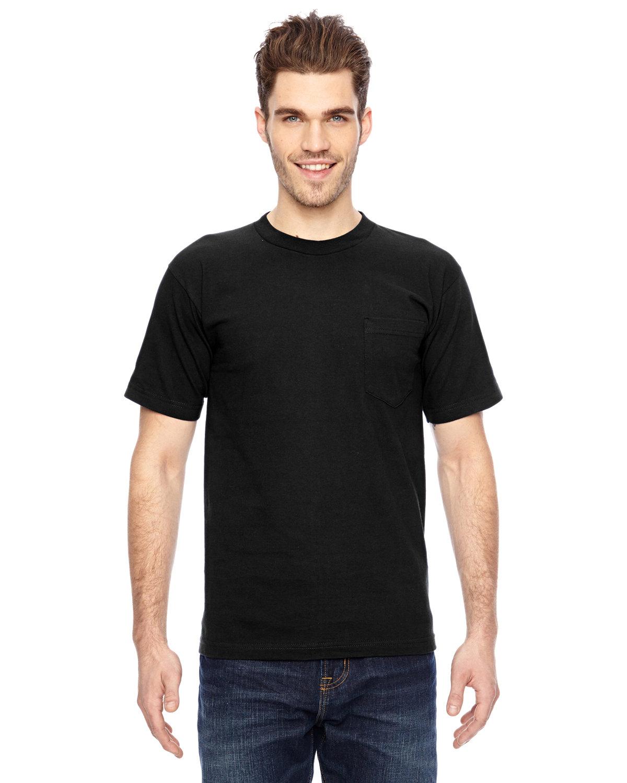 Bayside Adult 6.1 oz., 100% Cotton Pocket T-Shirt BLACK