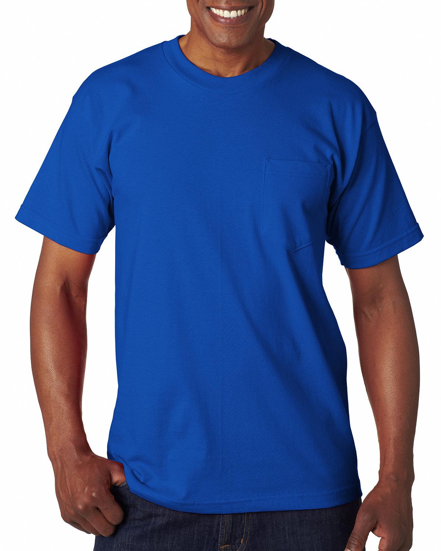 Bayside Adult 6.1 oz., 100% Cotton Pocket T-Shirt ROYAL BLUE