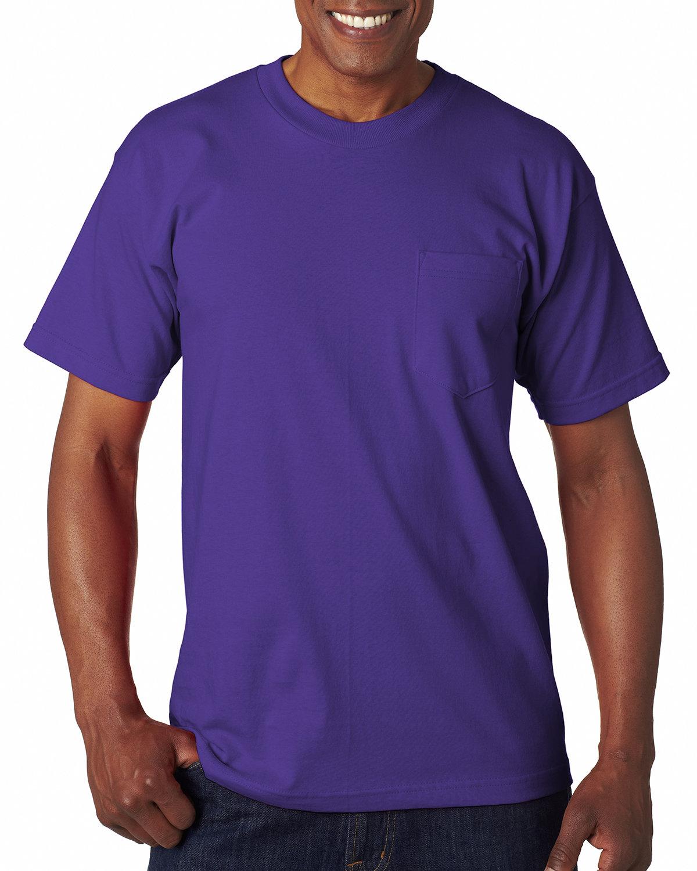 Bayside Adult 6.1 oz., 100% Cotton Pocket T-Shirt PURPLE