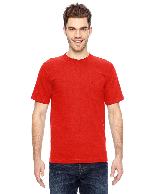 Bayside Adult 6.1 oz., 100% Cotton Pocket T-Shirt BRIGHT ORANGE