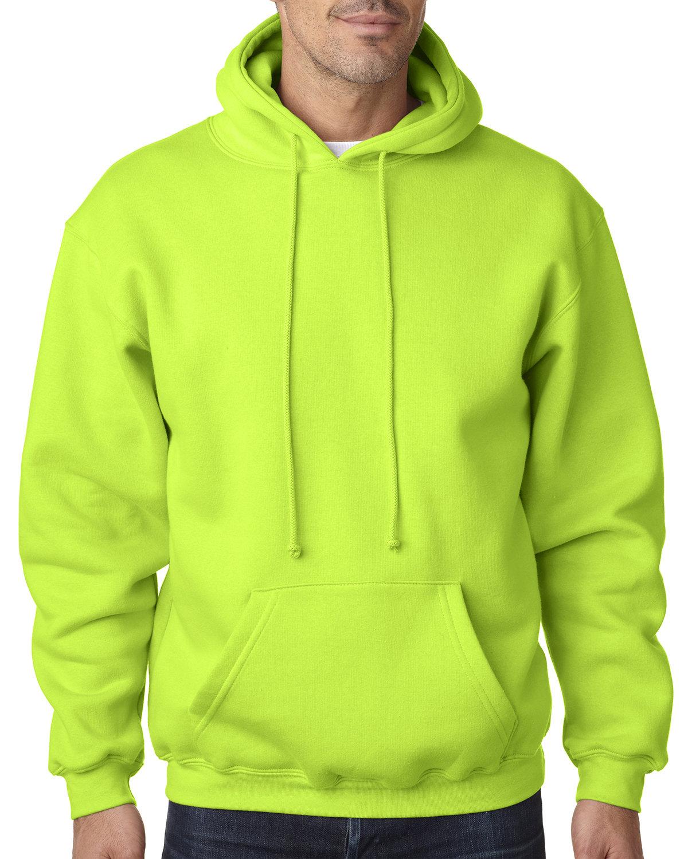 Bayside Adult 9.5 oz., 80/20 Pullover Hooded Sweatshirt LIME GREEN
