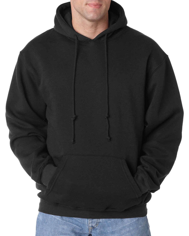 Bayside Adult 9.5 oz., 80/20 Pullover Hooded Sweatshirt BLACK