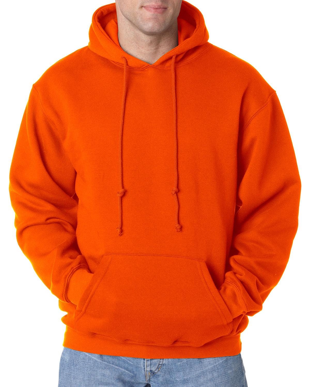 Bayside Adult 9.5 oz., 80/20 Pullover Hooded Sweatshirt BRIGHT ORANGE