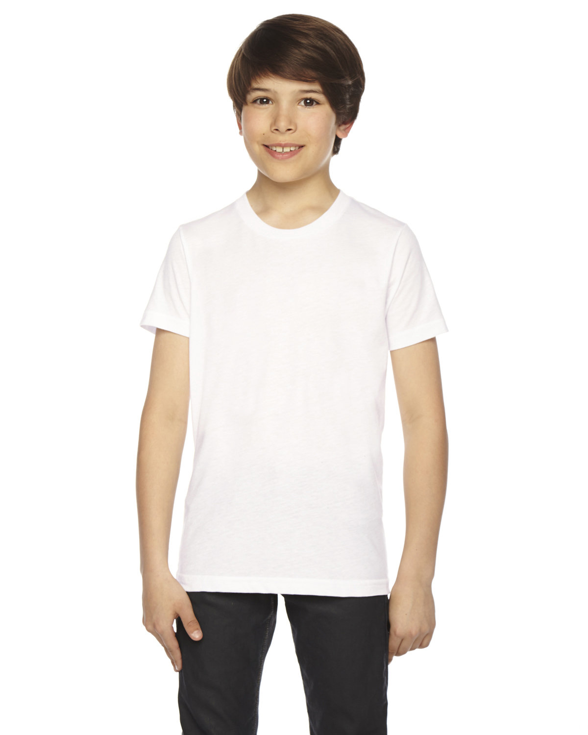 American Apparel Youth Poly-Cotton Short-Sleeve Crewneck WHITE