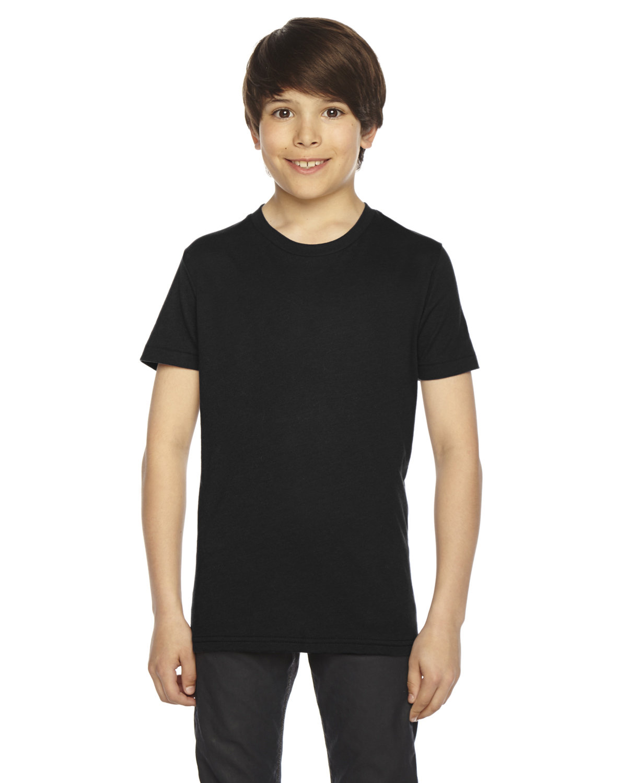 American Apparel Youth Poly-Cotton Short-Sleeve Crewneck BLACK