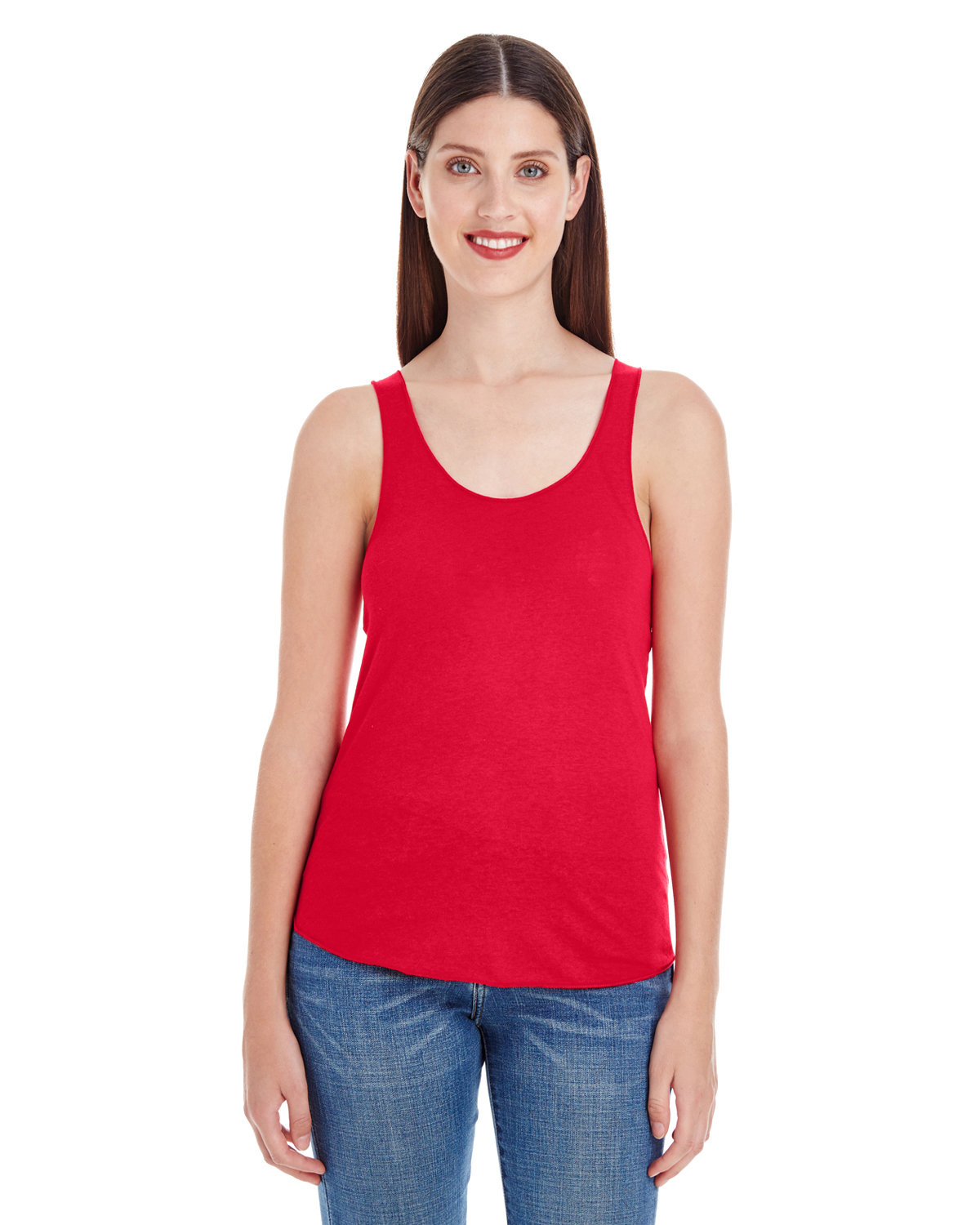 American Apparel Ladies' Poly-Cotton Racerback Tank RED