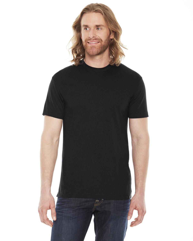 American Apparel Unisex Poly-Cotton USAMade Crewneck T-Shirt BLACK