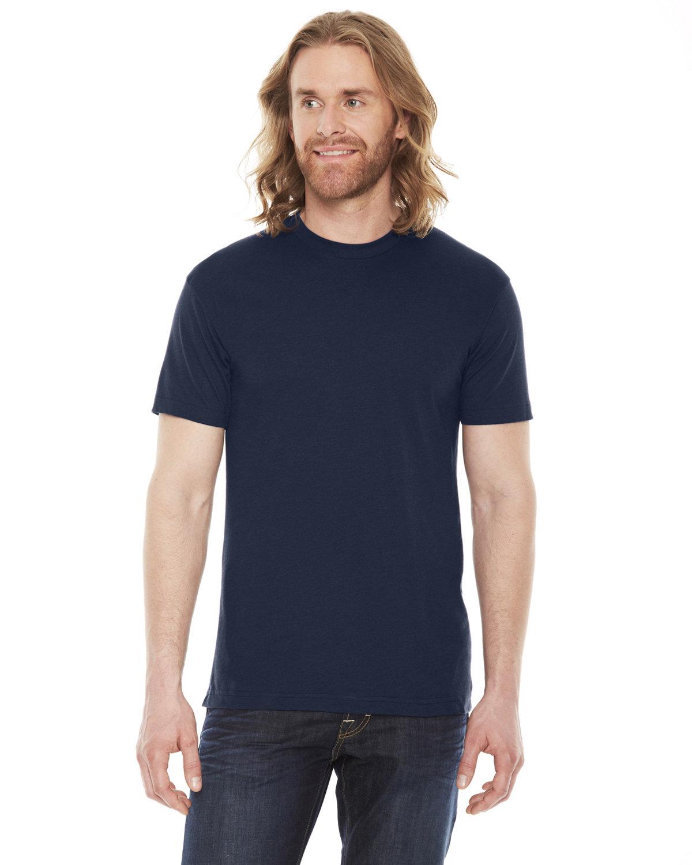 American Apparel Unisex Poly-Cotton USAMade Crewneck T-Shirt NAVY