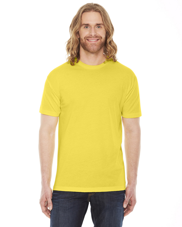 American Apparel Unisex Poly-Cotton Short-Sleeve Crewneck SUNSHINE