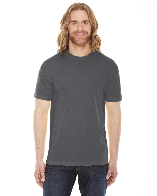American Apparel Unisex Poly-Cotton Short-Sleeve Crewneck ASPHALT