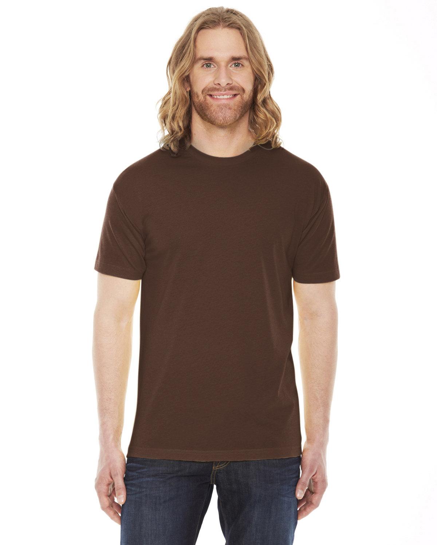 American Apparel Unisex Poly-Cotton Short-Sleeve Crewneck BROWN