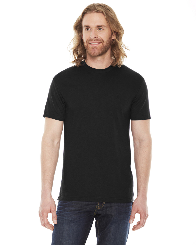 American Apparel Unisex Poly-Cotton Short-Sleeve Crewneck BLACK