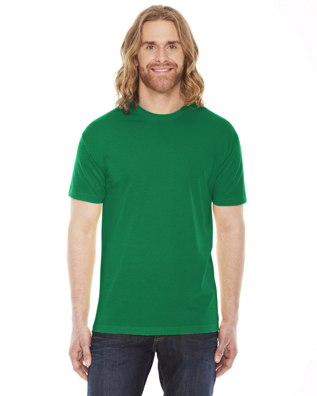 American Apparel Unisex Poly-Cotton Short-Sleeve Crewneck KELLY GREEN