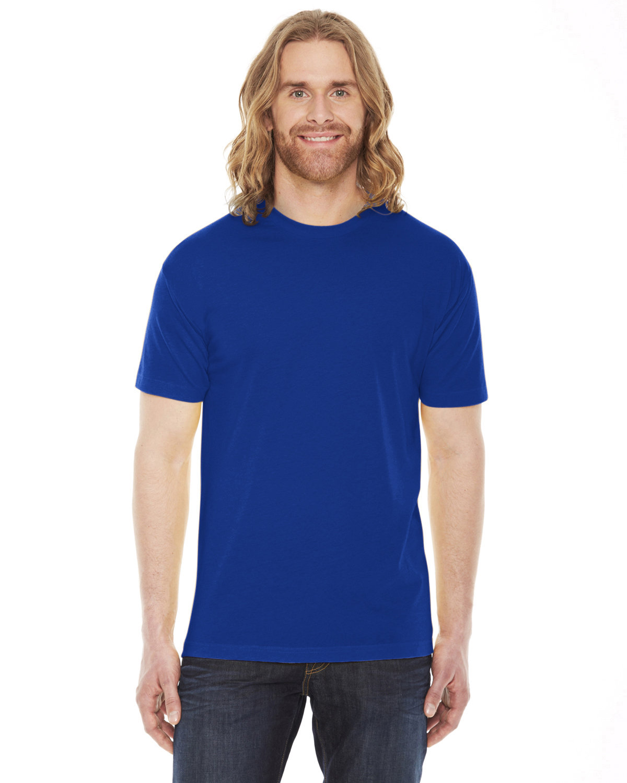 American Apparel Unisex Poly-Cotton Short-Sleeve Crewneck LAPIS