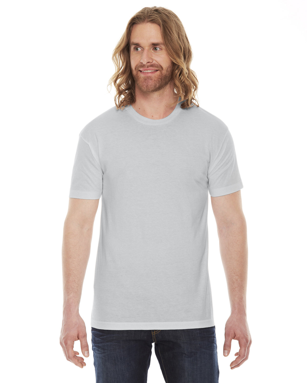 American Apparel Unisex Poly-Cotton Short-Sleeve Crewneck NEW SILVER