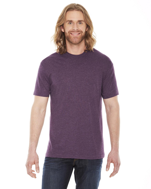 American Apparel Unisex Poly-Cotton Short-Sleeve Crewneck HEATHER PLUM