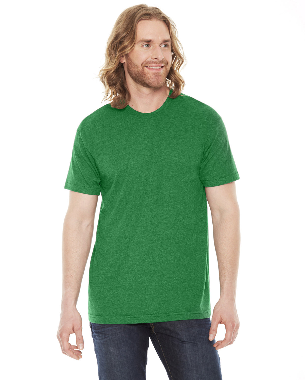American Apparel Unisex Poly-Cotton Short-Sleeve Crewneck HTHR KELLY GREEN