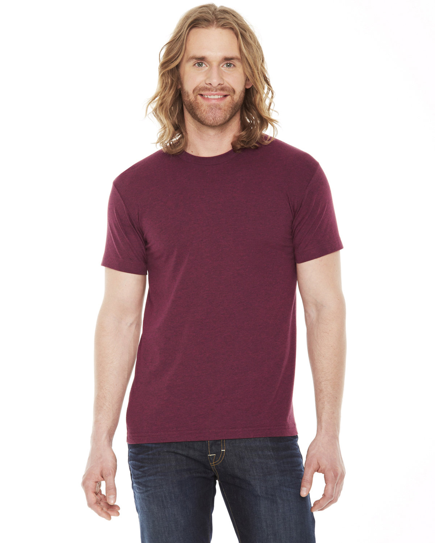 American Apparel Unisex Classic T-Shirt HTHR CRANBERRY