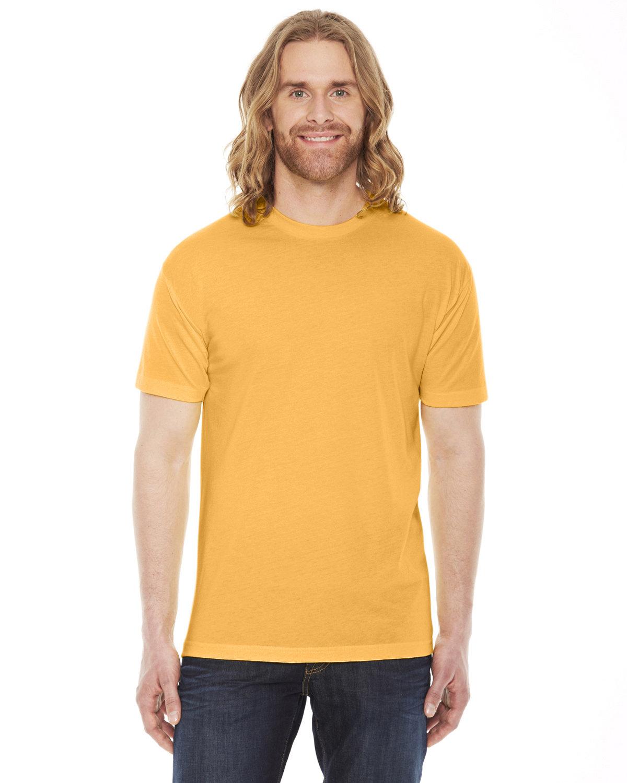 American Apparel Unisex Poly-Cotton Short-Sleeve Crewneck HEATHER GOLD