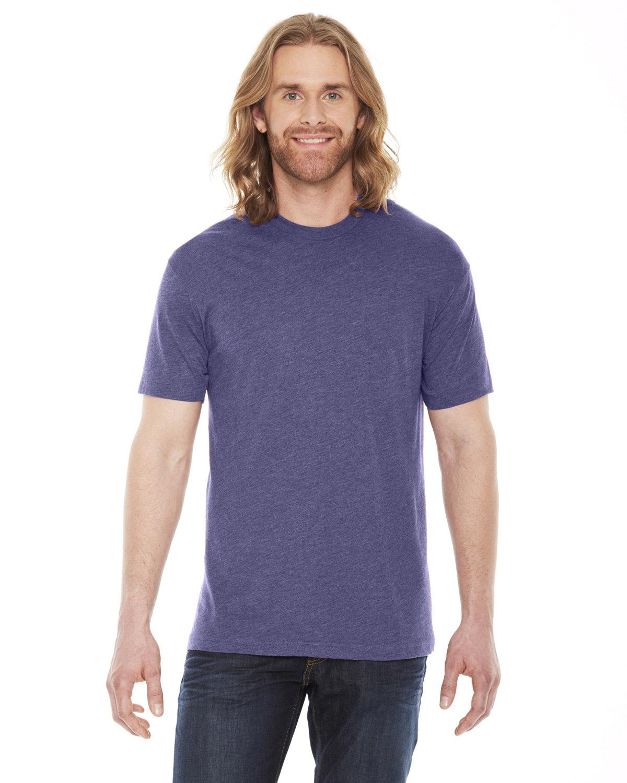 American Apparel Unisex Poly-Cotton Short-Sleeve Crewneck HTHR IMP PURPLE