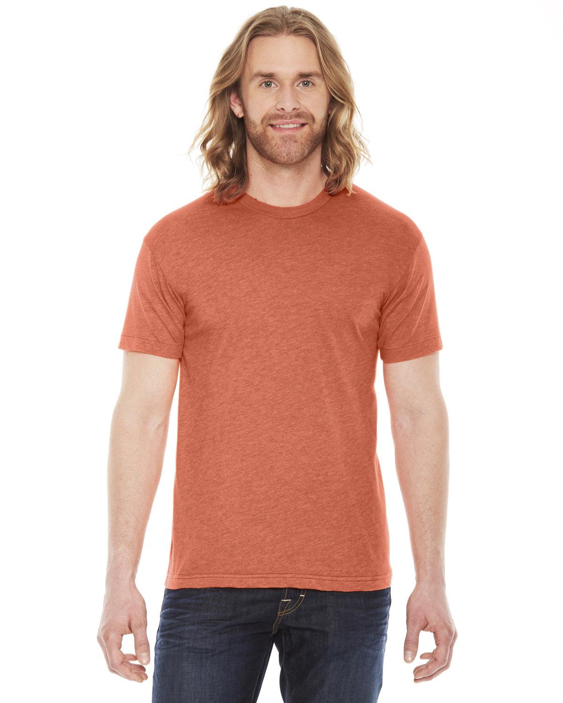 American Apparel Unisex Poly-Cotton Short-Sleeve Crewneck HEATHER ORANGE