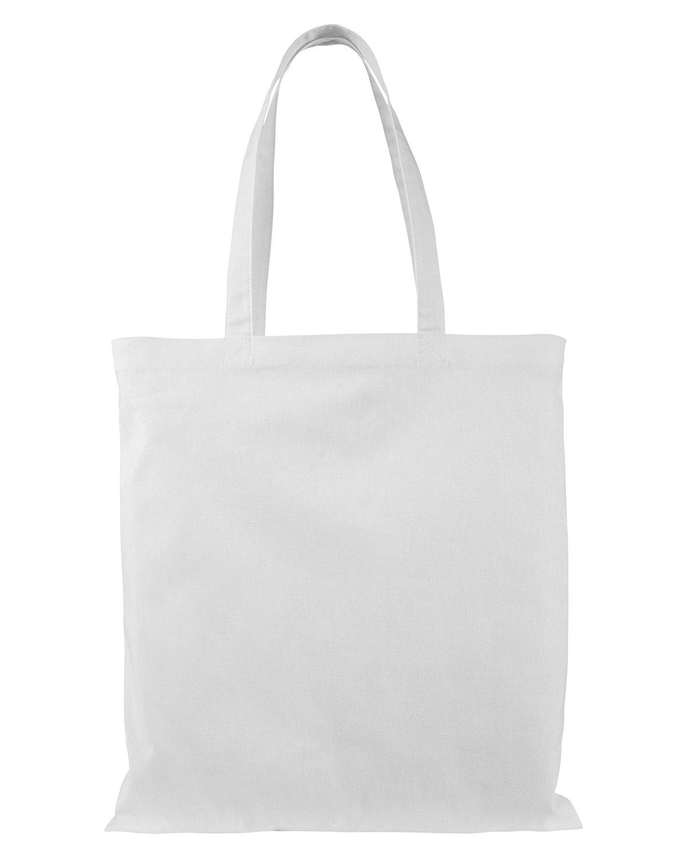 BAGedge 6 oz. Canvas Promo Tote WHITE