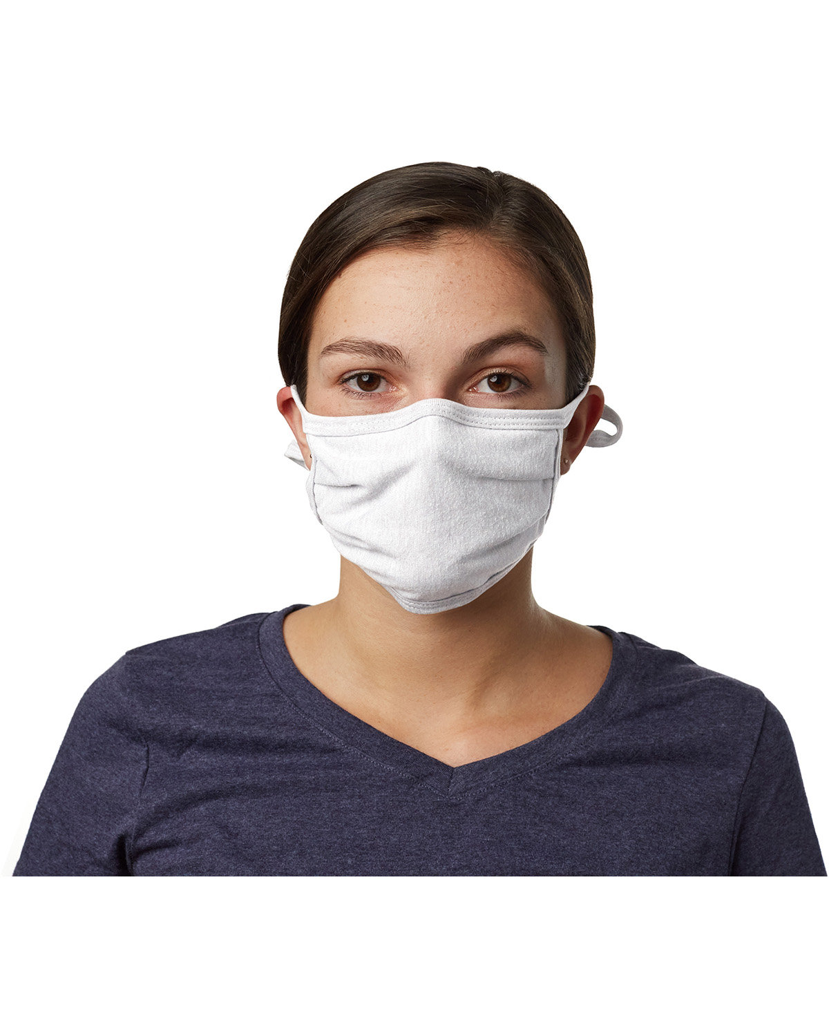 Hanes Adult 2-Ply Adjustable Mask WHITE