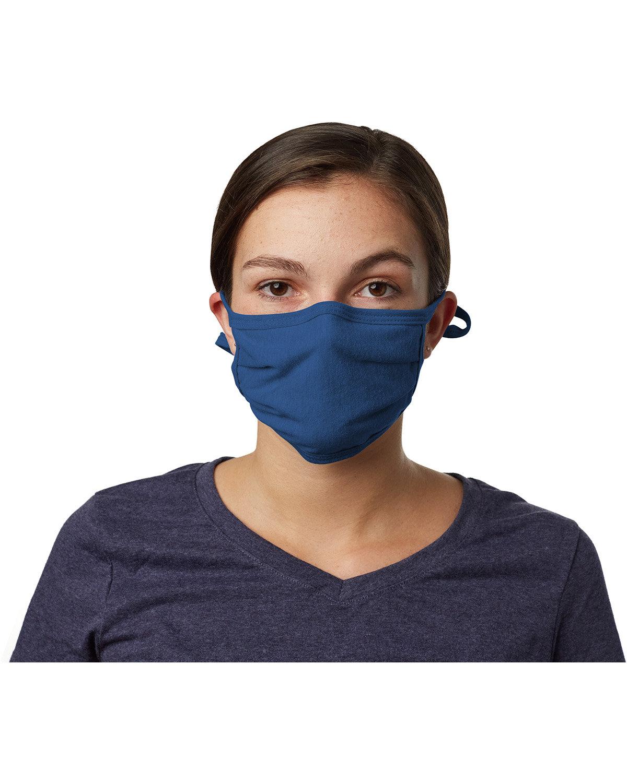 Hanes Adult 2-Ply Adjustable Mask ROYAL