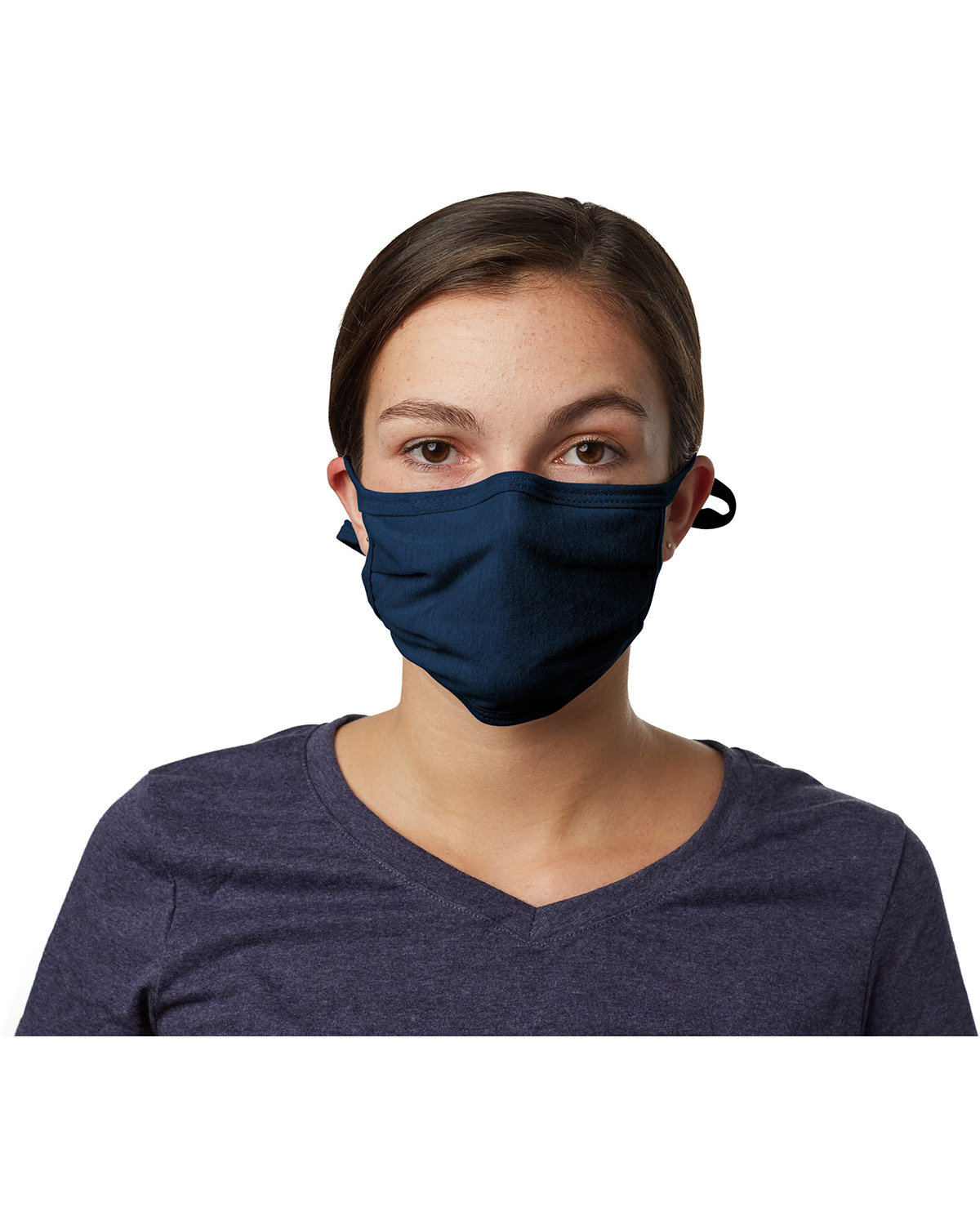 Hanes Adult 2-Ply Adjustable Mask NAVY