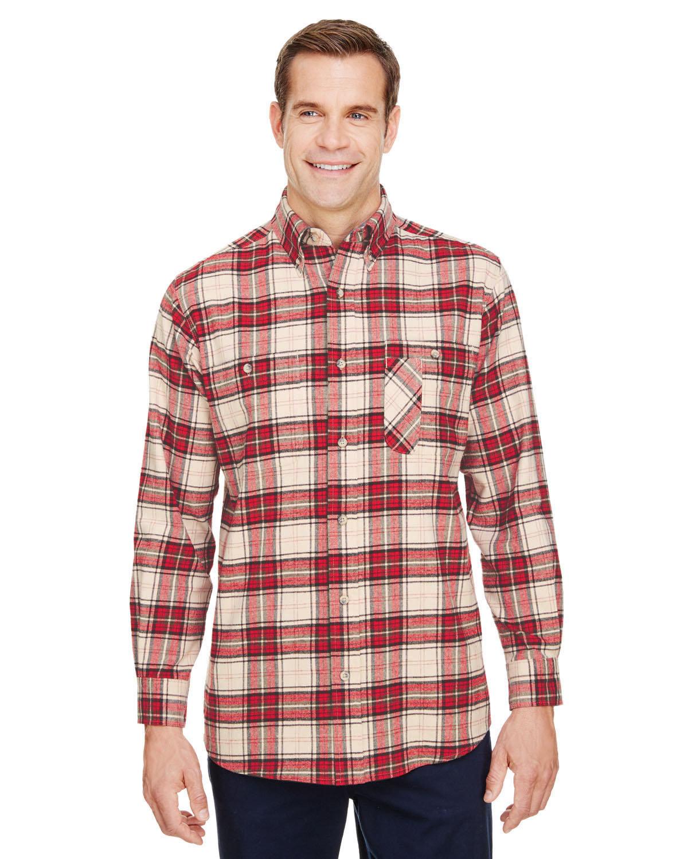 Backpacker Men's Tall Yarn-Dyed Flannel Shirt BRICK