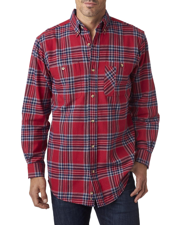 Backpacker Men's Tall Yarn-Dyed Flannel Shirt BLUE STUART