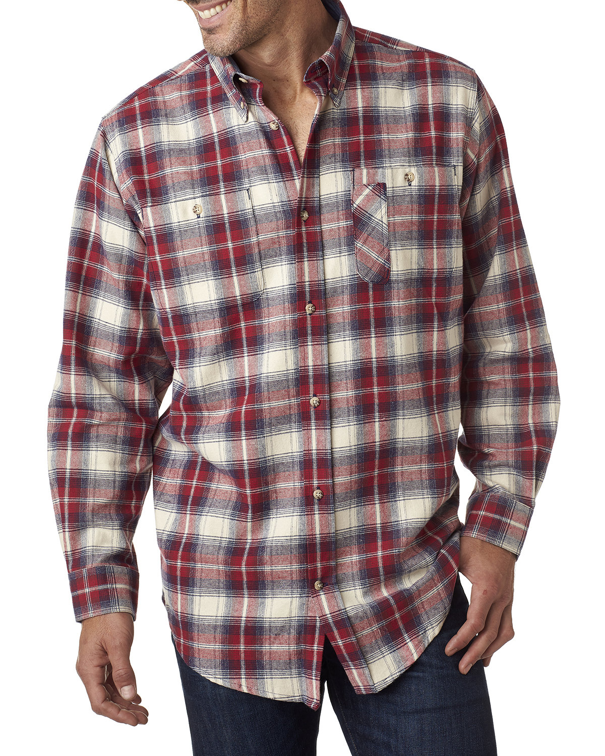 Backpacker Men's Tall Yarn-Dyed Flannel Shirt INDEPENDENT