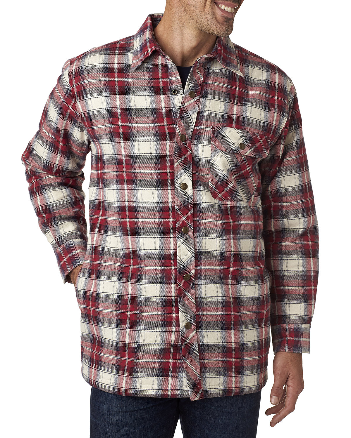 Backpacker Men's Tall Flannel Shirt Jacket with Quilt Lining INDEPENDENT