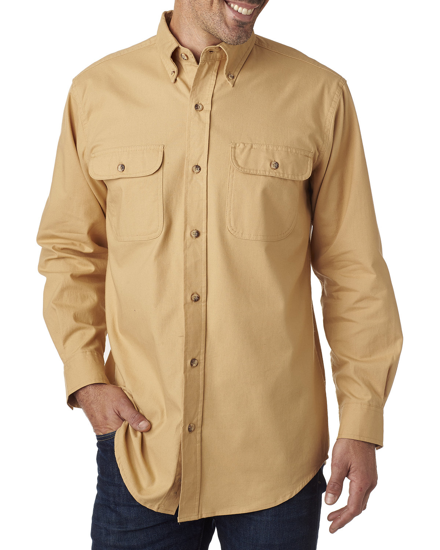 Backpacker Men's Solid Flannel Shirt MAIZE