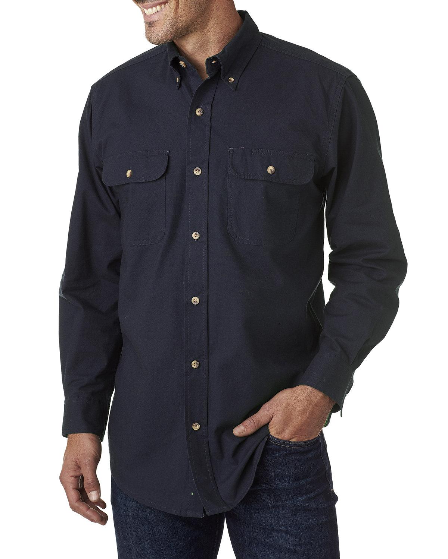 Backpacker Men's Solid Flannel Shirt NAVY