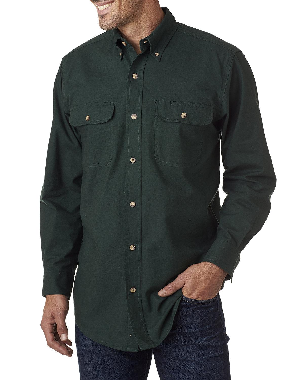 Backpacker Men's Solid Flannel Shirt PINE