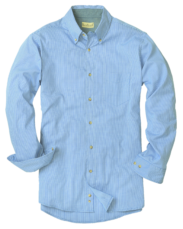 Backpacker Men's Yarn-Dyed Micro-Check Woven LIGHT BLUE