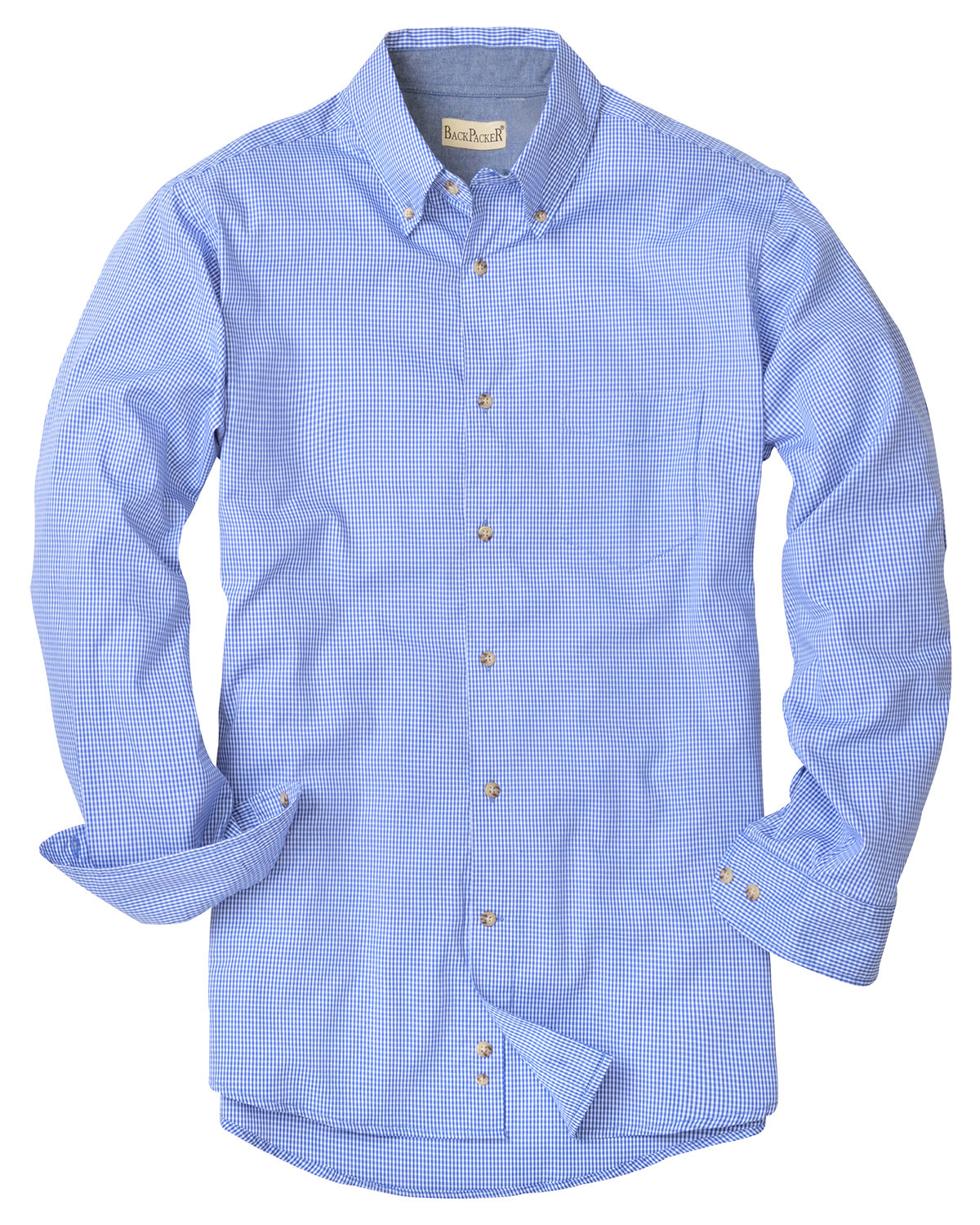 Backpacker Men's Yarn-Dyed Micro-Check Woven FRENCH BLUE