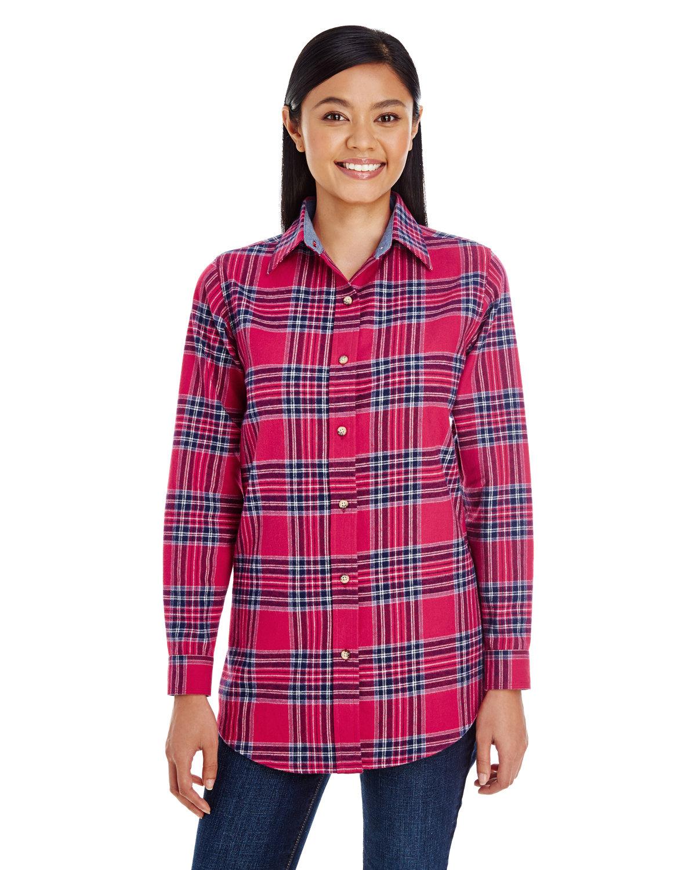 Backpacker Ladies' Yarn-Dyed Flannel Shirt BLUE STUART