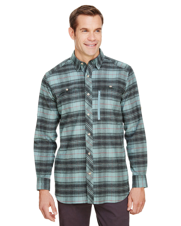 Backpacker Men's Stretch Flannel Shirt LIGHT TEAL