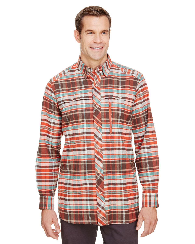 Backpacker Men's Stretch Flannel Shirt RUST