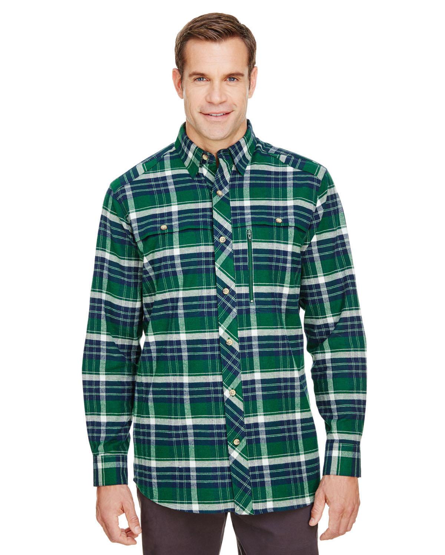 Backpacker Men's Stretch Flannel Shirt FOREST GREEN