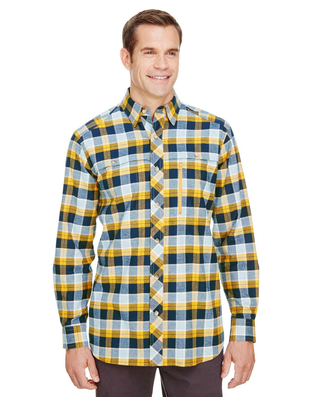 Backpacker Men's Stretch Flannel Shirt GOLD NAVY